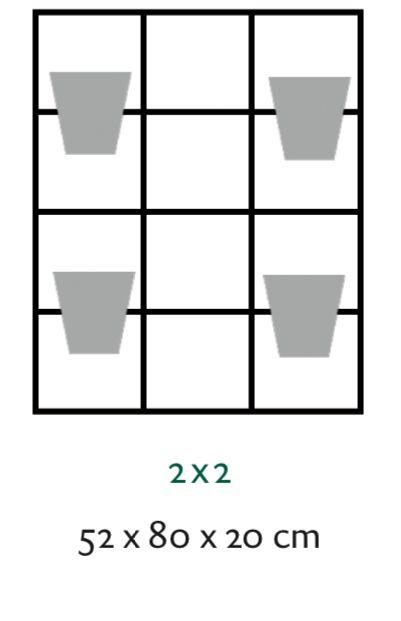 B-E-N-D plantenrek 52 x 80 cm (onbewerkt)