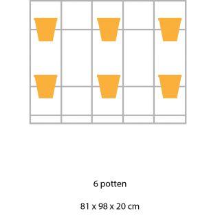 B-E-N-D plantenrek 81 x 98 cm (staand model)