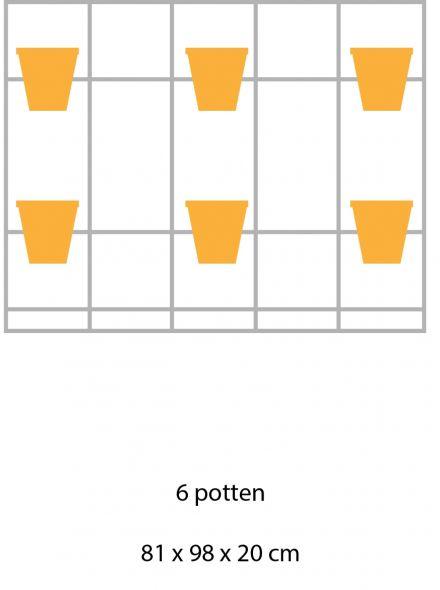 B-E-N-D plantenrek 81 x 98 cm onbewerkt (staand model)
