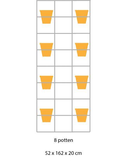 B-E-N-D plantenrek 52 x 162 cm (onbewerkt)
