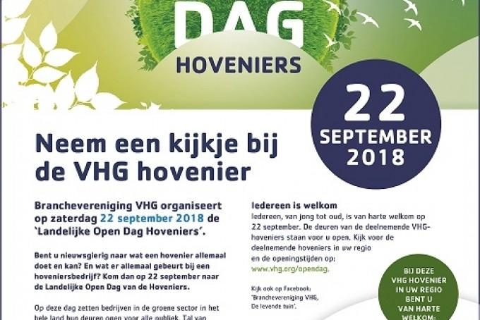 Landelijke Open Dag Hoveniers 22 September 2018