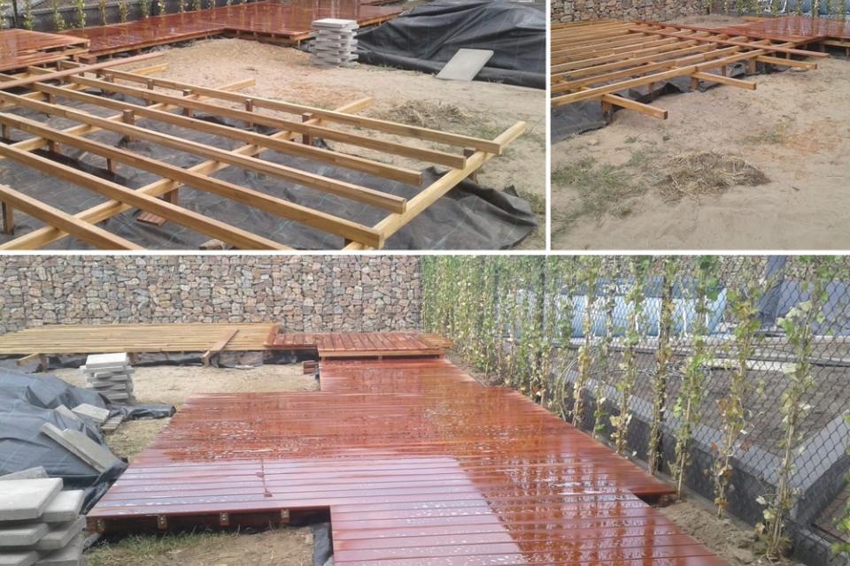 Wellness tuin in aanbouw