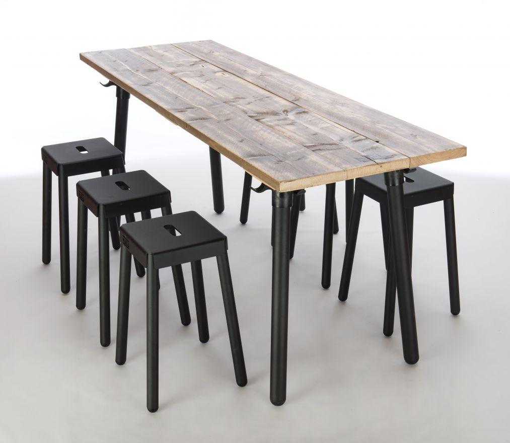 NJOJ Eettafel 'Black' (78 cm hoog)