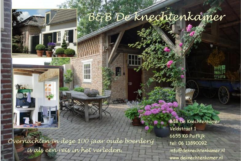 Bed & Breakfast De Knechtenkamer en De Tuinen van Appeltern