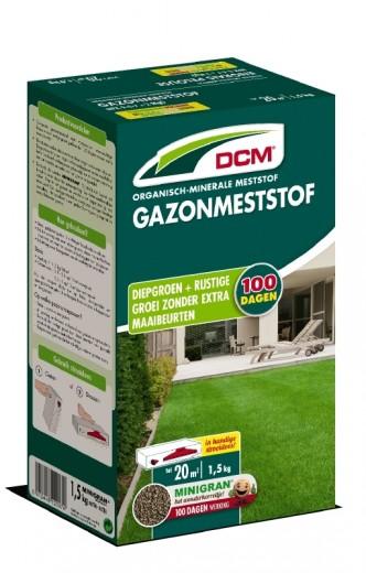 DCM Organische Gazonmeststof - 1,5 kilogram (Gazonbemesting 15 m2)
