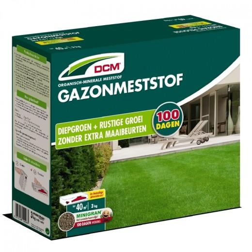 DCM Organische Gazonmeststof - 3 kilogram (Gazonbemesting 35 m2)