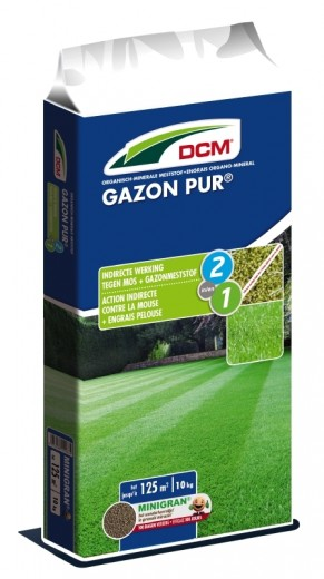DCM Organische Meststof Gazon Pur® - 10 kilogram (Gazonbemesting 100 m2)