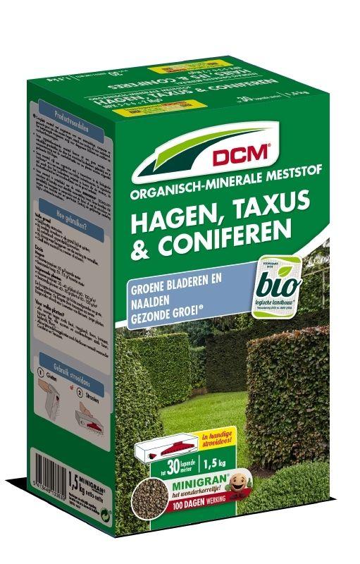 DCM Organische Meststof voor Hagen, Taxus & Coniferen 1,5 kilogram - +/- 30 meter haag