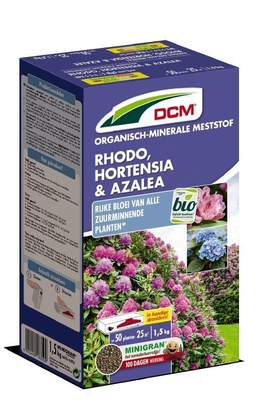 DCM Organische Meststof voor Rhododendron - Hortensia - Azalea 1500 gram - +/- 50 planten (Bemesting)