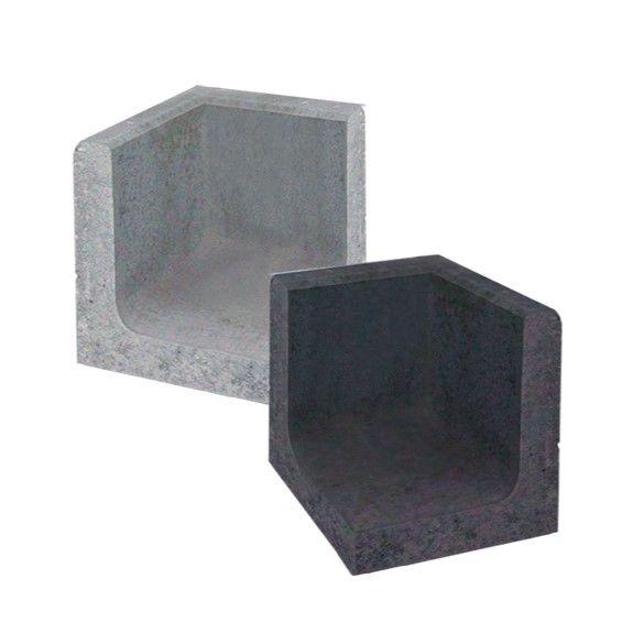 Betonnen U-hoekelement 40x40x50 cm (LxDxH)