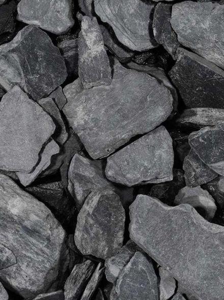 Black slate tumbled 30-80 mm