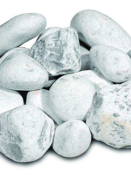 Carrara rond (witte keien)