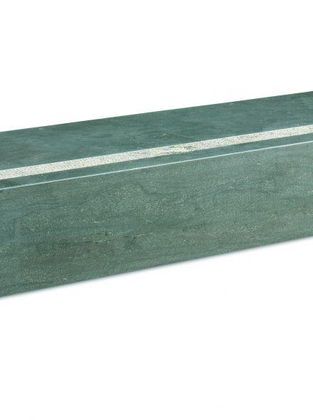 Bloktrede spotted bluestone 125x35x15 cm, gezoet