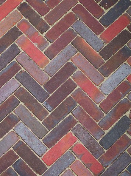 Gebakken Waalformaat Ca. 20x5x8,5 cm Oud Ommen Rood/Bruin/Blauw/Paars/Zwart
