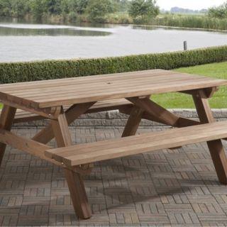 Talen | Picknicktafel FSC hardhout | 160 x 180 cm