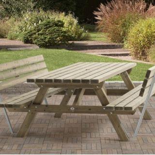 Rugleuning tbv picknicktafel 230cm