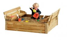 Woodvision | Zandbak met deksel zitbank Tom