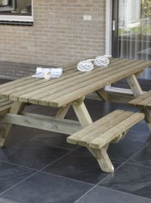 Talen | Picknicktafel met open instap | 230 cm