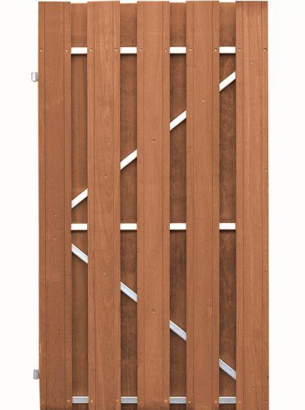 Plankendeur Bangkirai op verstelbaar stalen frame