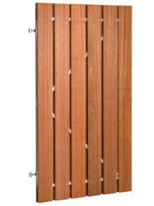 Plankendeur hardhout op zwart verstelbaar stalen frame