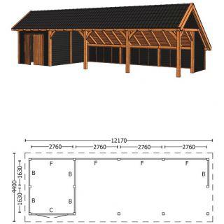 Trendhout | Kapschuur De Hoeve XL 12.17m Combinatie 3