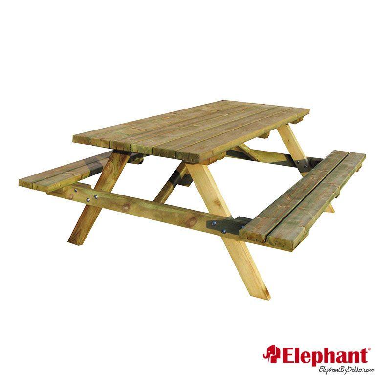 Elephant   Picknicktafel met opklapbare banken