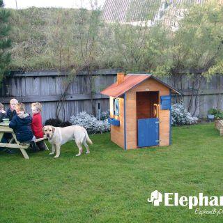 Elephant   Kinderspeelhuisje geverfd