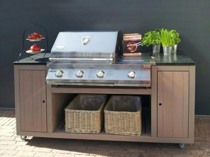 Trendhout | Buitenkeuken Cooker de Luxe incl. BBQ Patton