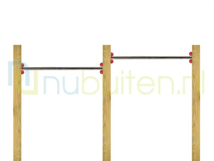 NuBuiten | Dubbel Duikelrek 90 | RVS