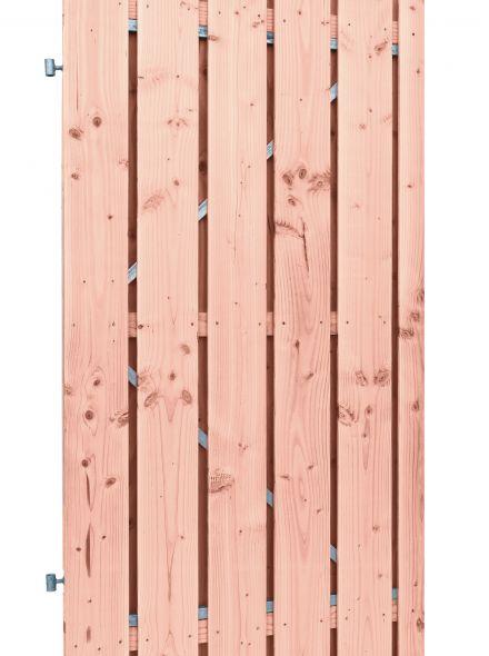Douglas plankendeur op stalen frame | Geschaafd