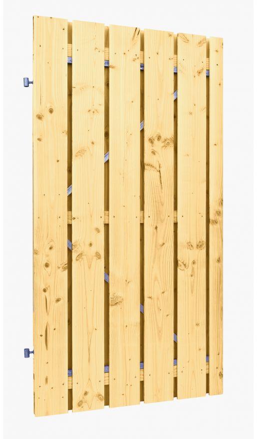 Douglas plankendeur op stalen frame | Geschaafd | Geimpregneerd