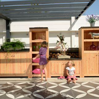 Woodvision | Douglas buitenkeuken element | Dubbel 60 met deuren