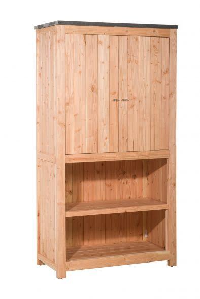 Woodvision | Douglas buitenkeuken element | Dubbel 168 met deuren