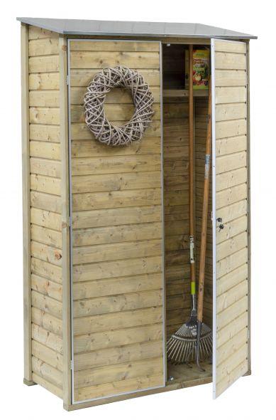 Outdoor Life Products | Muurkast FSC | Met vloer en zinken dak