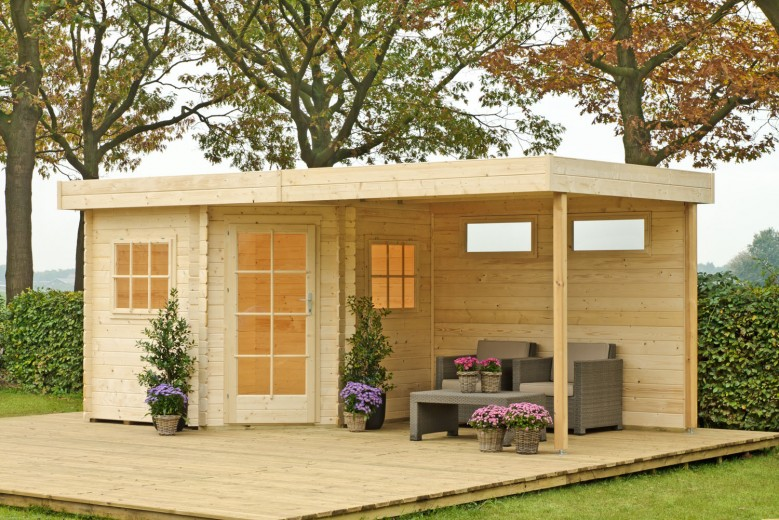 Outdoor | Blokhut Karlijn met luifel | Voor 600