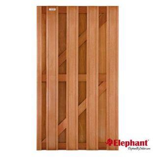 Elephant | Timber tuindeur met toog | 90x180 cm