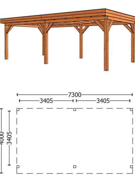 Trendhout | Buitenverblijf Refter XL 7300 mm | Combinatie 1