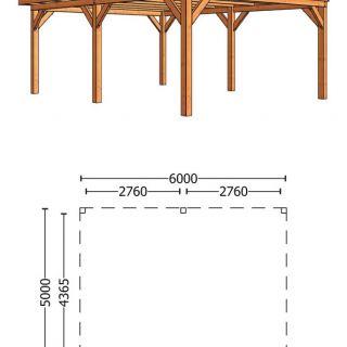 Trendhout | Buitenverblijf Regina XL 6000 mm | Combinatie 1