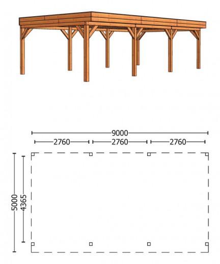 Trendhout   Buitenverblijf Regina XL 9000 mm   Combinatie 1