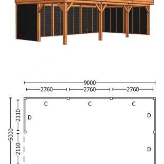 Trendhout | Buitenverblijf Regina XL 9000 mm | Combinatie 2