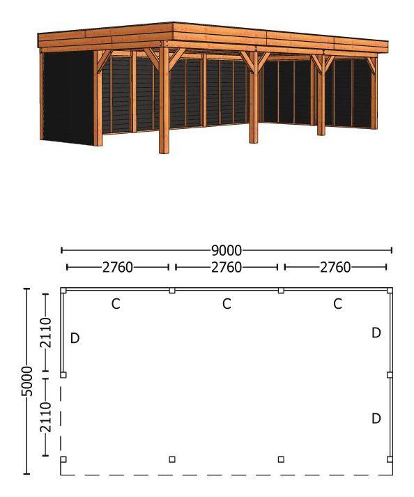 Trendhout   Buitenverblijf Regina XL 9000 mm   Combinatie 2