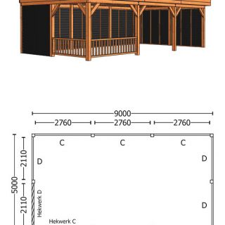 Trendhout | Buitenverblijf Regina XL 9000 mm | Combinatie 3