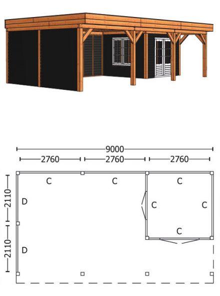 Trendhout | Buitenverblijf Regina XL 9000 mm | Combinatie 5