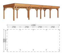 Trendhout | Buitenverblijf Regina XL 12000 mm | Combinatie 1