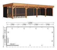 Trendhout | Buitenverblijf Regina XL 12000 mm | Combinatie 2