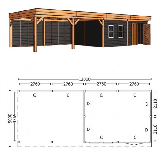 Trendhout | Buitenverblijf Regina XL 12000 mm | Combinatie 4