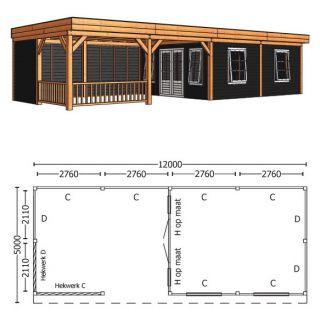 Trendhout | Buitenverblijf Regina XL 12000 mm | Combinatie 5