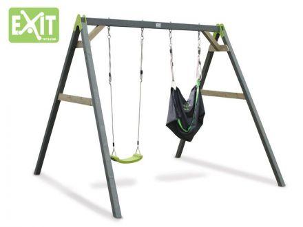 EXIT   Aksent Duoschommel (2 zitjes) + EXIT Swingbag Green (1x)