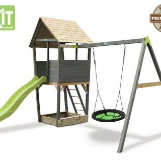 EXIT | Aksent Speeltoren met aanbouwschommel (nestschommel)