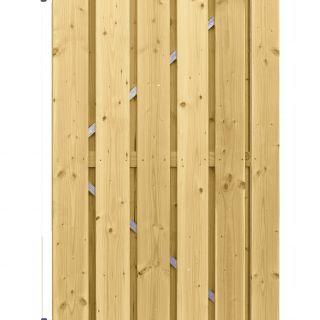 Carpgarant | Douglas poort | Universeel | op stalen frame fijnbezaagd | 100 x 190cm | geimpregneerd